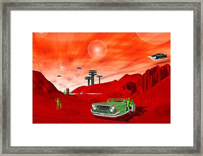 Just Another Day On The Red Planet 2 Framed Print by Mike McGlothlen