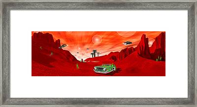 Just Another Day On The Red Planet Panoramic Framed Print