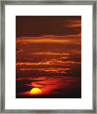 Just Another Ho Hum Sunset Framed Print by Frozen in Time Fine Art Photography