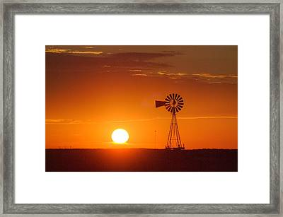 Just Another Nebraska Sunset Framed Print