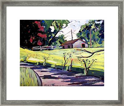 Just Around Paw Paw Pike Framed Print by Charlie Spear