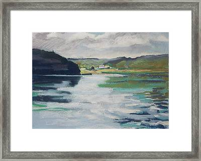 Framed Print featuring the pastel Just Around The Bend by Grace Keown
