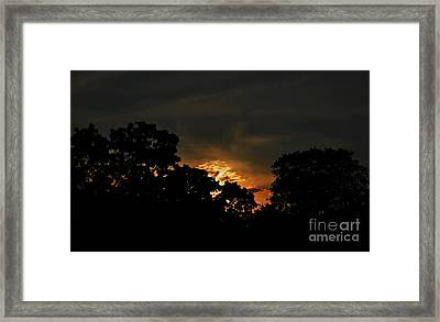 Just Before Dark Framed Print by Michelle Meenawong