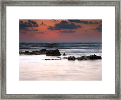 Framed Print featuring the photograph Just Before by Meir Ezrachi