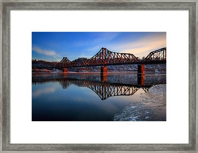 Just Before Sun Down  Framed Print