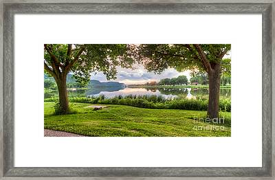 Just Before Sunset Framed Print