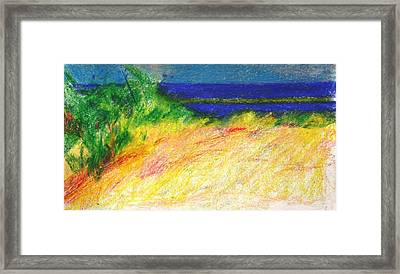 Just Before The Sea Framed Print by Anita Dale Livaditis