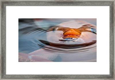 Just Below The Surface  Framed Print by Hastings Franks