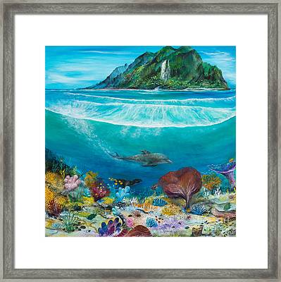 Just Below The Surface Framed Print by John Garland  Tyson