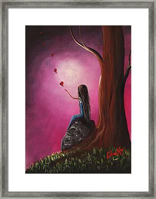 Just Beneath The Moonlight Original Art Framed Print by Shawna Erback