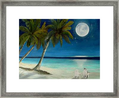 Just Beyond The Moon Framed Print by Sharon Burger