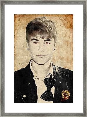 Just Bieber Framed Print by Dancin Artworks