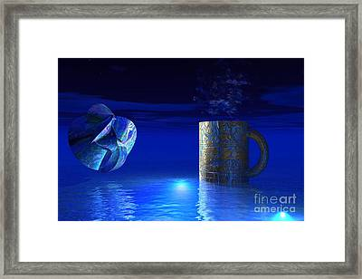 Framed Print featuring the digital art Just Blue by Jacqueline Lloyd