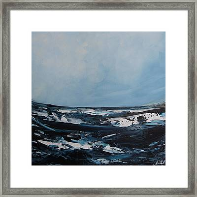 Just Blue Framed Print by Lilu Lilu