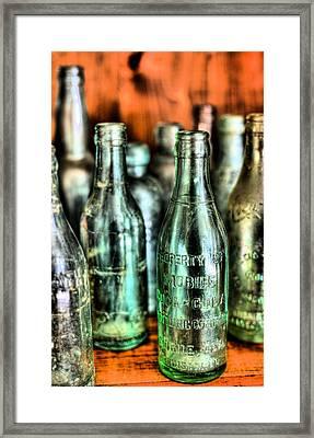 Just Bottles  Framed Print