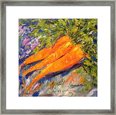 Just Carrots Framed Print by Barbara Pirkle