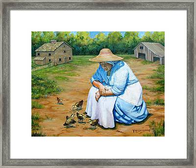 Just Chicken Feed Framed Print by Tanja Ware