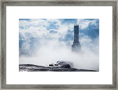 Just Cold And Disappear Framed Print