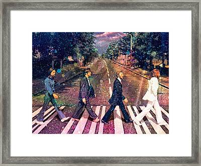 Just Crossing The Street Framed Print by Angela A Stanton