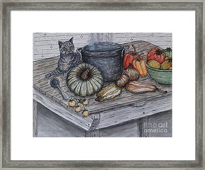 Just Curious Framed Print
