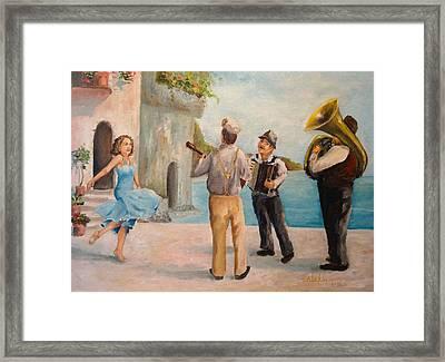Just Dance Framed Print by Alan Lakin