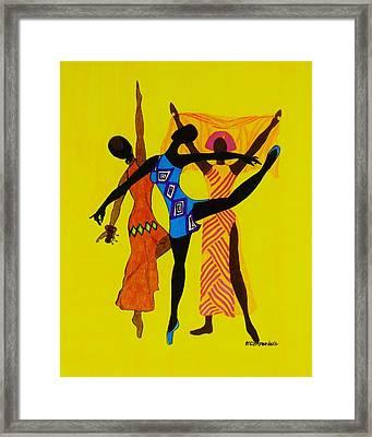 Just Dance Framed Print by Celeste Manning