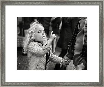 Just Follow Me Now  Framed Print by Michel Verhoef