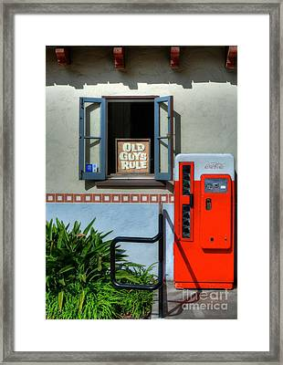 Just For Old Guys Framed Print by Mel Steinhauer