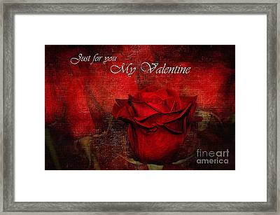 Just For You My Valentine Framed Print by Kaye Menner