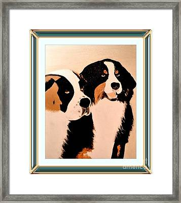 Just Friends Framed Print