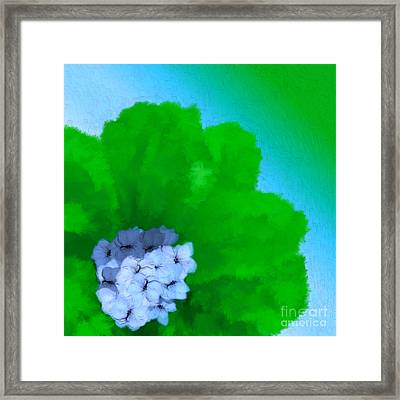 Just Give Me A Reason Blue Green Blue Framed Print