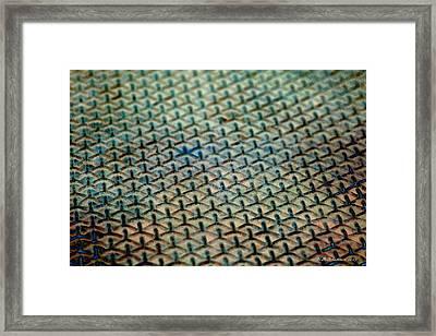 Just Grate Framed Print