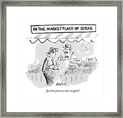 Just How Fresh Are These Insights? Framed Print by Lee Lorenz