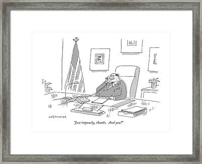 Just Impeachy Framed Print