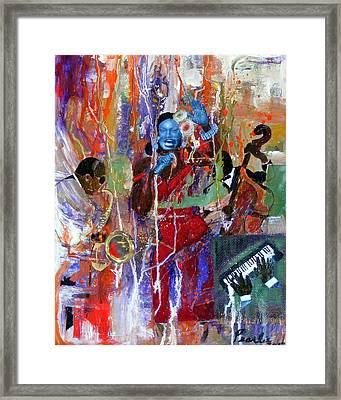 Just Jazzin Framed Print