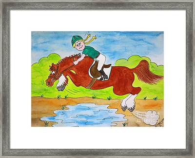 Just Jump Framed Print