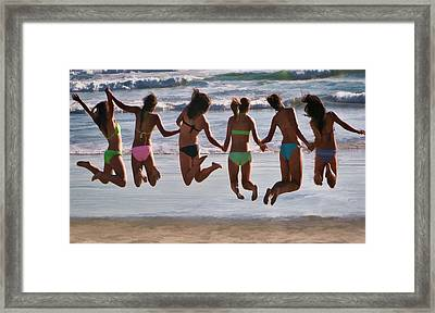 Just Jump Framed Print by Tammy Espino