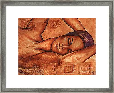 Just Lay Back And Relax And . . .  Framed Print by Alga Washington