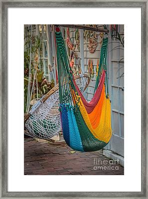 Just Lazin - Hammocks Key West - Hdr Style Framed Print by Ian Monk