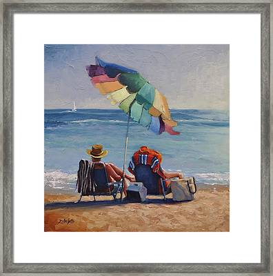Just Leave A Message V Framed Print by Laura Lee Zanghetti