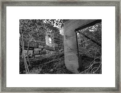 Just Left There Jerome Black And White Framed Print