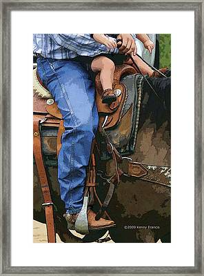 Framed Print featuring the photograph Just Like Dad by Kenny Francis