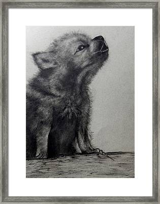 Just Like Mama Framed Print