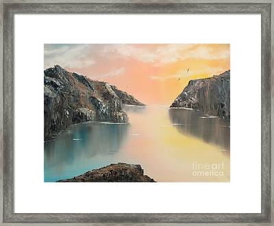 Framed Print featuring the painting Just Listen by Christie Minalga