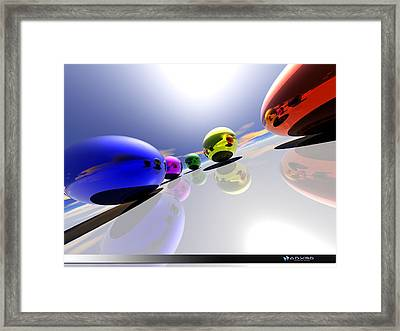 Just Look Around Framed Print