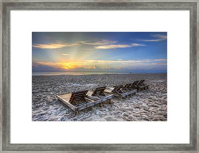 Just Lounging Around Framed Print by Debra and Dave Vanderlaan