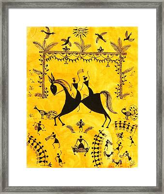 Just Married Framed Print by Anjali Vaidya