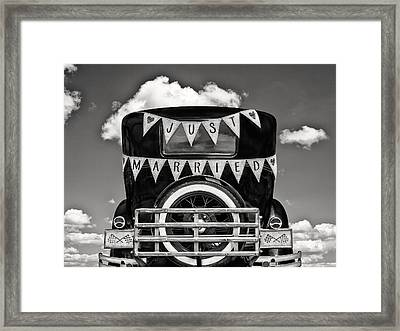 Just Married 2 Framed Print by Martin Bergsma