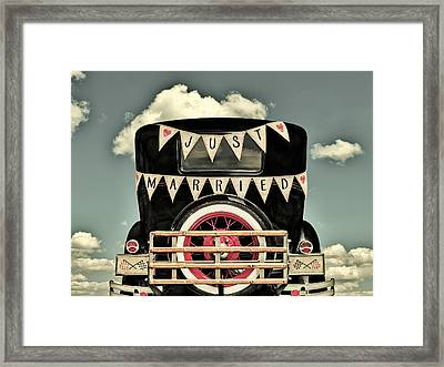 Just Married Framed Print by Martin Bergsma