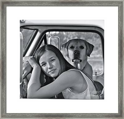 Just Me And My Dog Framed Print